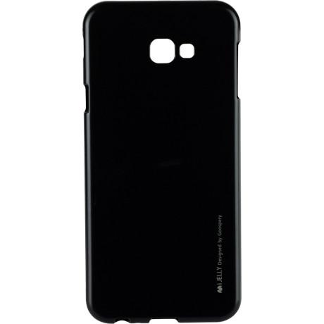 Husa Jelly Metal Samsung Galaxy J4 Plus, Negru