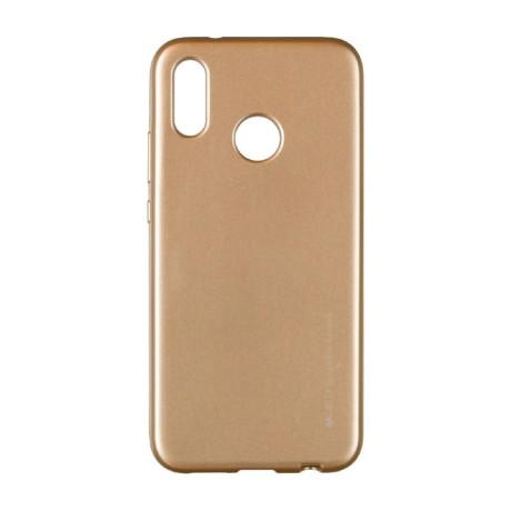 Husa Jelly Metal Samsung Galaxy M30, Goospery Auriu