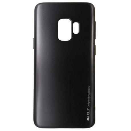 Husa Jelly Metal Samsung Galaxy S9 Negru Goospery