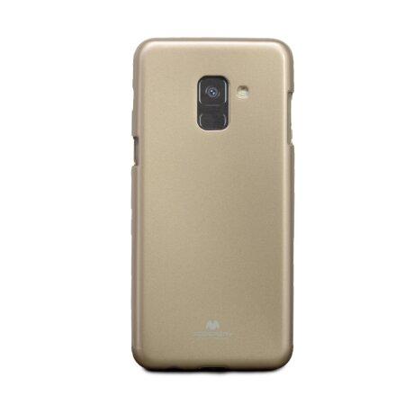 Husa Jelly Samsung Galaxy A8 2018 Auriu Goospery