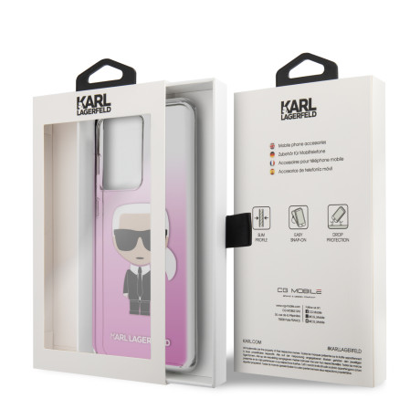 Husa Karl Lagerfeld Degrade Cover pentru Samsung Galaxy S20 Ultra Pink