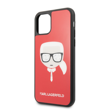 Husa Karl Lagerfeld Layers Glitter pentru iPhone 11 Pro Rosu