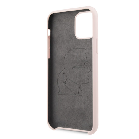 Husa Karl Lagerfeld Silicone pentru  iPhone 11 Pro Max, Roz