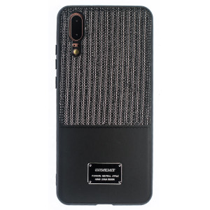 Husa Magnetica Huawei P20, Negru Glitter CTK