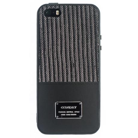Husa Magnetica iPhone 5/5S, Negru Glitter CTK