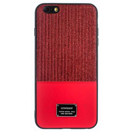 Husa Magnetica iPhone 6 Plus, Rosu Glitter CTK