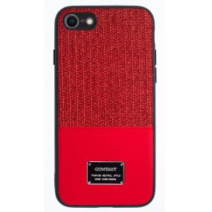 Husa Magnetica iPhone 7/8/SE 2, Rosu Glitter CTK