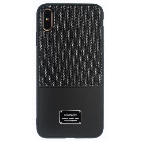 Husa Magnetica iPhone XS Max, Negru Glitter CTK
