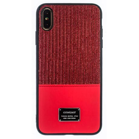 Husa Magnetica iPhone XS Max, Rosu Glitter CTK