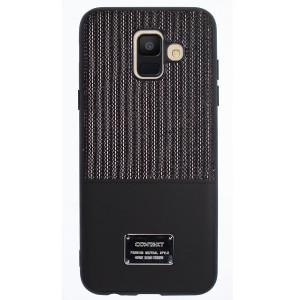 Husa Magnetica Samsung Galaxy A6 2018, Negru Glitter CTK