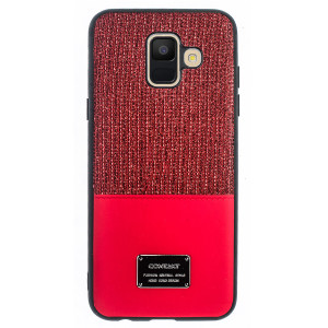 Husa Magnetica Samsung Galaxy A6 2018, Rosu Glitter CTK