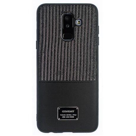 Husa Magnetica Samsung Galaxy A6 Plus 2018, Negru Glitter CTK