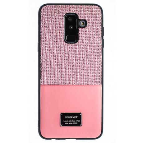 Husa Magnetica Samsung Galaxy A6 Plus 2018, Roz Glitter CTK
