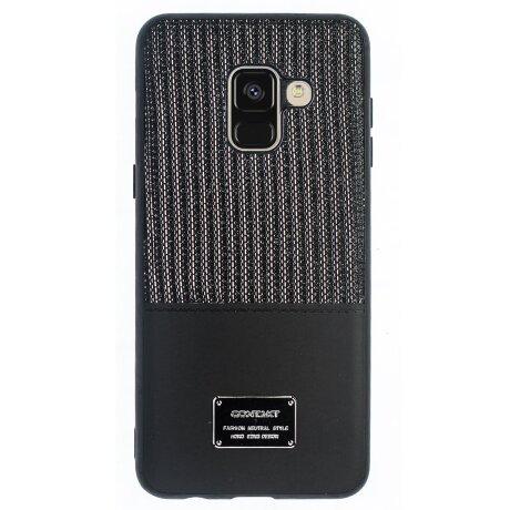 Husa Magnetica Samsung Galaxy A8 2018, Negru Glitter CTK