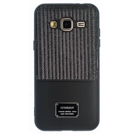 Husa Magnetica Samsung Galaxy J3 2016, Negru Glitter CTK