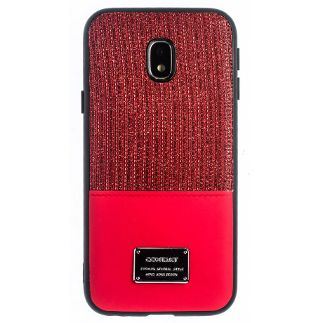 Husa Magnetica Samsung Galaxy J3 2017, Rosu Glitter CTK