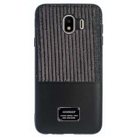 Husa Magnetica Samsung Galaxy J4 2018, Negru Glitter CTK