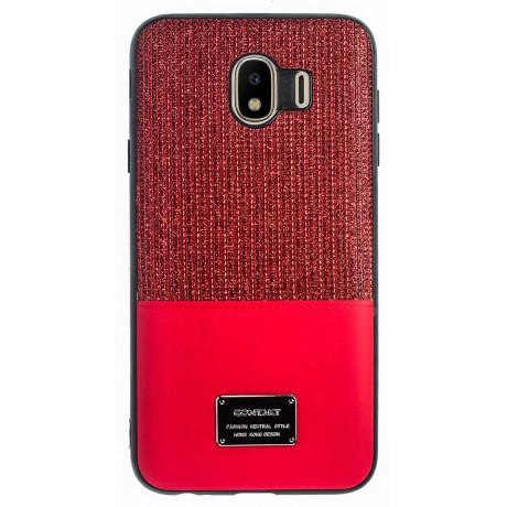 Husa Magnetica Samsung Galaxy J4 2018, Rosu Glitter CTK