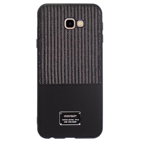 Husa Magnetica Samsung Galaxy J4 Plus, Negru Glitter CTK