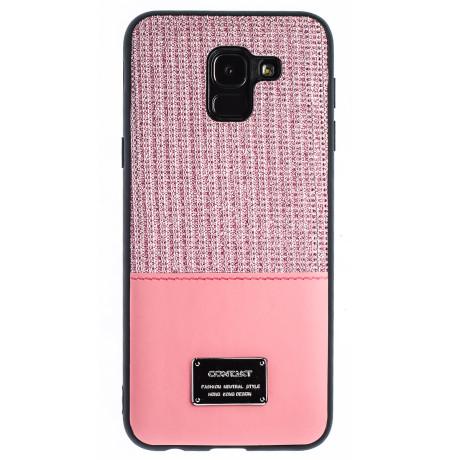 Husa Magnetica Samsung Galaxy J6 2018, Roz Glitter CTK