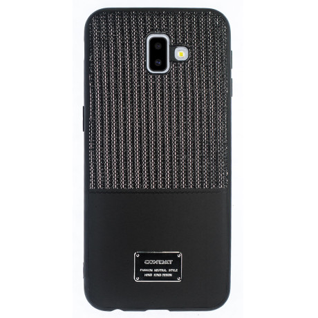 Husa Magnetica Samsung Galaxy J6 Plus, Negru Glitter CTK