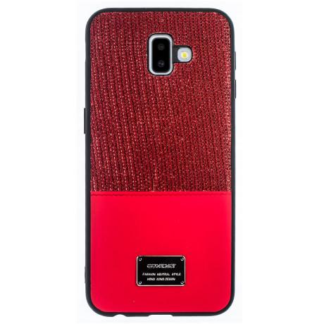 Husa Magnetica Samsung Galaxy J6 Plus, Rosu Glitter CTK