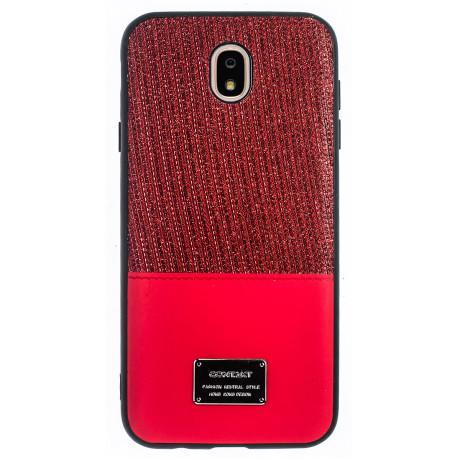 Husa Magnetica Samsung Galaxy J7 2017, Rosu Glitter CTK