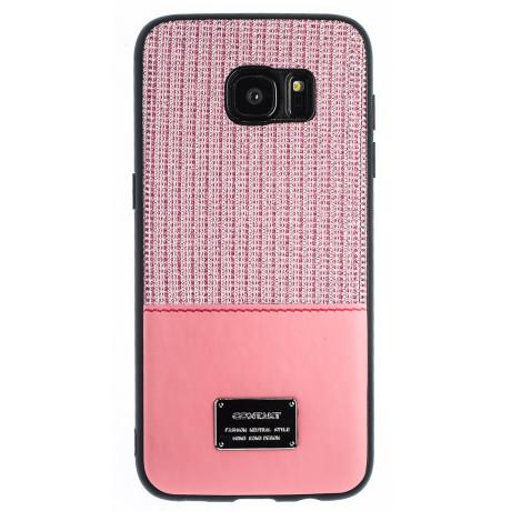 Husa Magnetica Samsung Galaxy S7 Edge, Roz Glitter CTK
