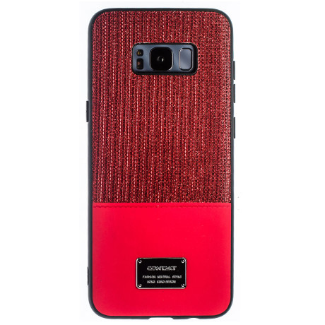 Husa Magnetica Samsung Galaxy S8 Plus, Rosu Glitter CTK