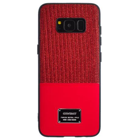 Husa Magnetica Samsung Galaxy S8, Rosu Glitter CTK