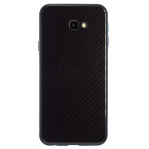 Husa Oglinda Samsung Galaxy J4 Plus, Negru Caro