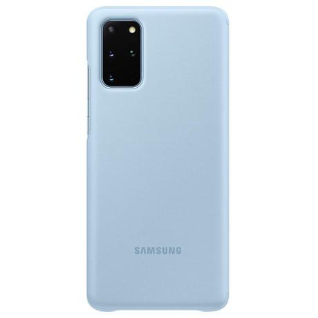 Husa Originala Samsung Galaxy S20 Plus, S-View Clear, Albastru