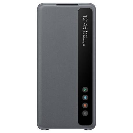 Husa Originala Samsung Galaxy S20 Plus, S-View Clear, Gri