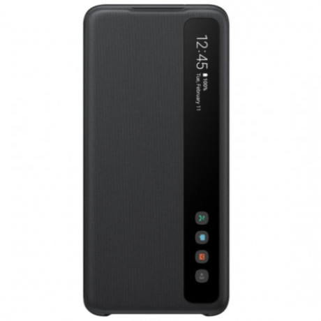 Husa Originala Samsung Galaxy S20, S-View Clear, Negru