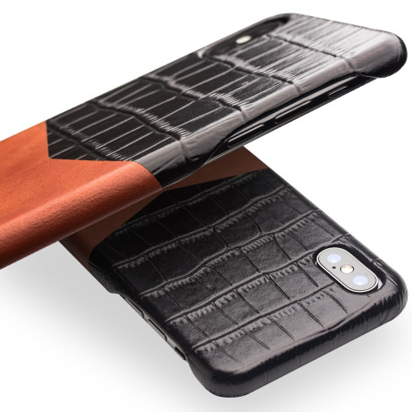 Husa piele iPhone X/Xs Crocodile texture Qialino