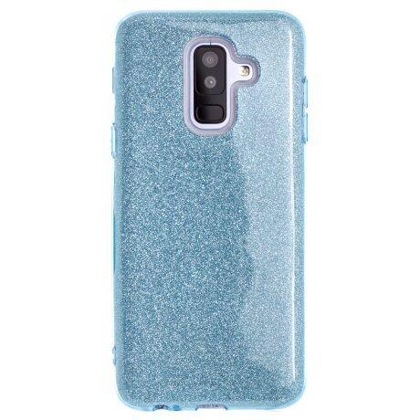 Husa Samsung Galaxy A6 Plus 2018, Glitter Albastra