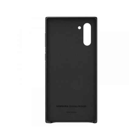 Husa Samsung Galaxy Note 10 Black Leather Cover Samsung