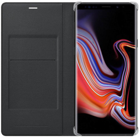 Husa Samsung Galaxy Note 9 Leather Wallet Cover Neagra
