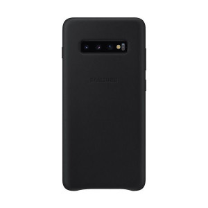 Husa Samsung Leather Cover pentru Samsung Galaxy S10 Plus EF-VG975LBEGWW Black