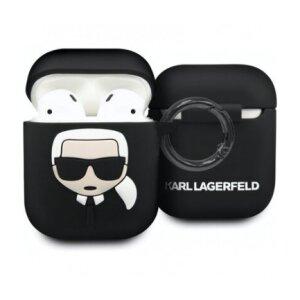 Husa Silicon  AirPods Negru Karl Lagerfeld