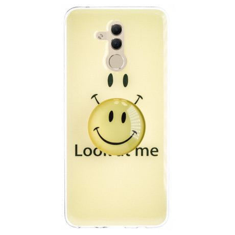 Husa Silicon cu suport Huawei Mate 20 Lite, Smile