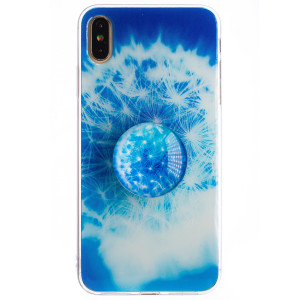 Husa Silicon cu suport iPhone XS Max, Floral