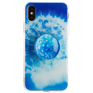 Husa Silicon cu suport iPhone X/XS, Floral