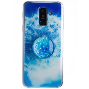 Husa Silicon cu suport Samsung Galaxy A6 Plus 2018, Floral