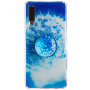 Husa Silicon cu suport Samsung Galaxy A7 2018, Floral