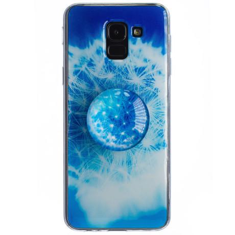 Husa Silicon cu suport Samsung Galaxy J6 2018, Floral