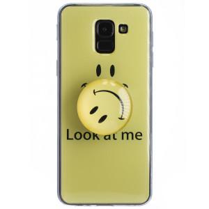 Husa Silicon cu suport Samsung Galaxy J6 2018, Smile