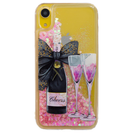 Husa Silicon Fashion iPhone XR, Champagne Liquid