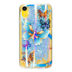 Husa Silicon Fashion iPhone XR Liquid Butterfly