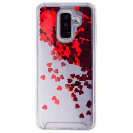 Husa Silicon Fashion Samsung Galaxy A6 Plus 2018,  Liquid Rosu